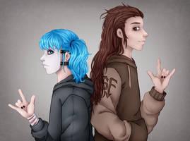 Sally and Larry by KujiraKira