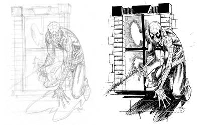 Spider Man, Pencils and Inks