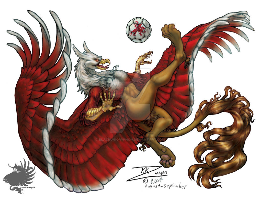 Soccer Gryphon 3 of 3 PRINT