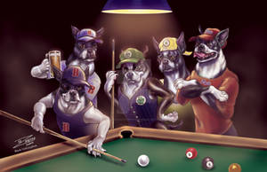 Boston Terrier Billiards by BlackUniGryphon