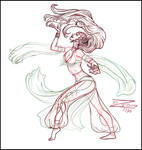 Turkish Bellydancer Sketch