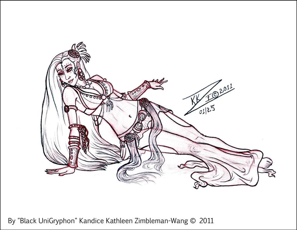 Sketch Belly Dance Floorwork R By Blackunigryphon On