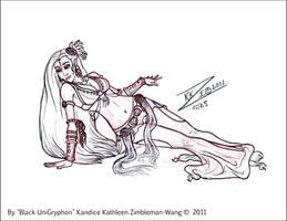 Sketch Belly Dance Floorwork R by BlackUniGryphon