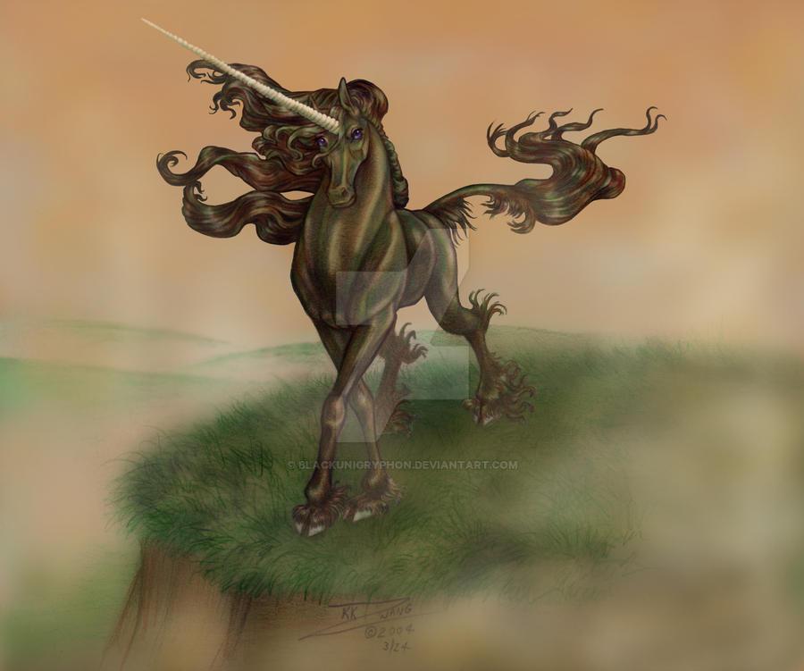 Black Unicorn in the Mists by BlackUniGryphon