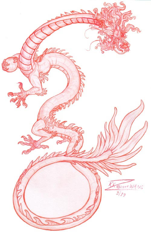 Chinese Dragon Sketch by Easy Chinese Dragon Sketch