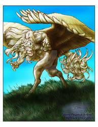 Vexed Pegasus Anthro' by BlackUniGryphon