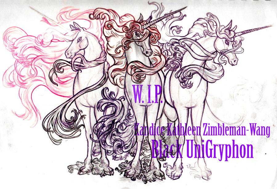WIP 3 Weirding Sister Unicorn Fates 001 by BlackUniGryphon