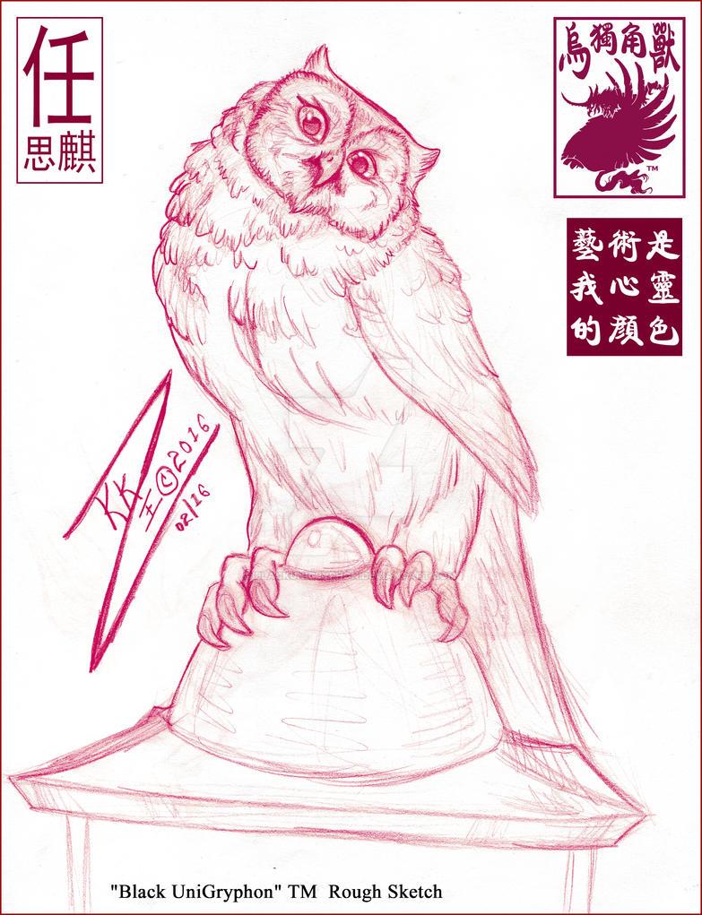 Owl Lantern Sketch 001 by BlackUniGryphon