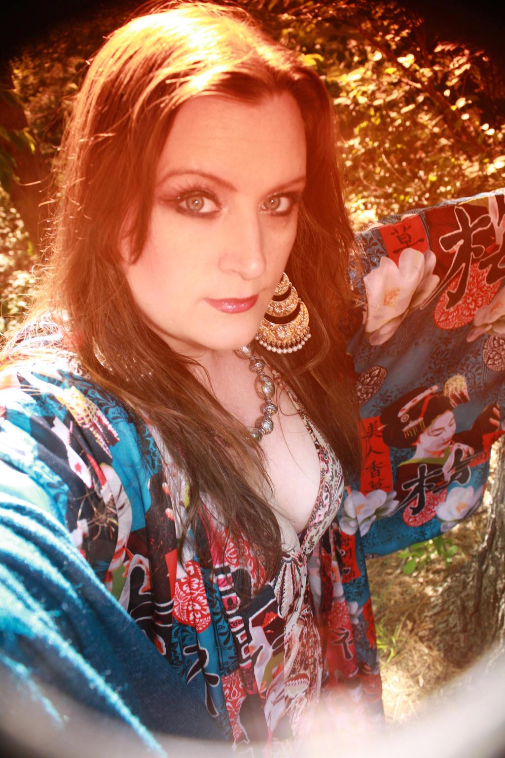 Boho Chic Mori Kimono Robes 006 by BlackUniGryphon