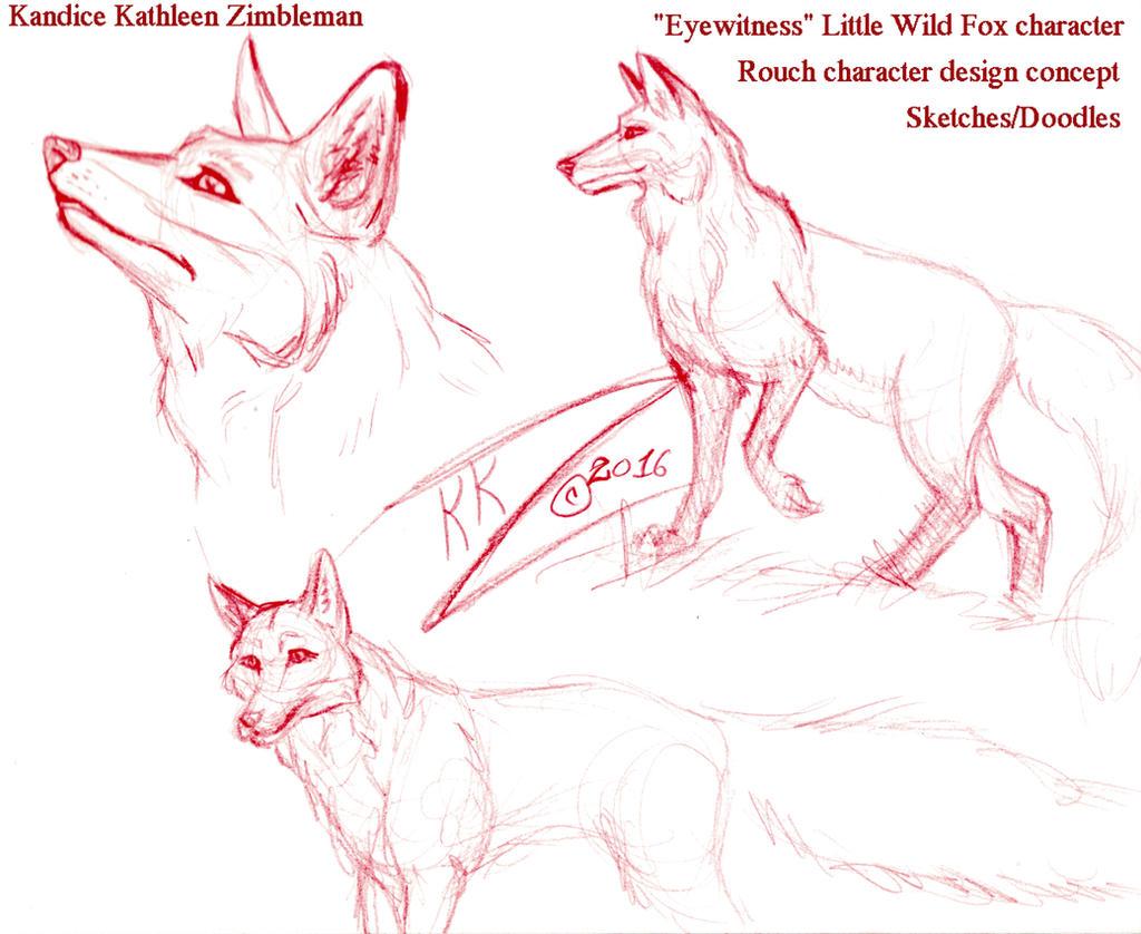 Little Wild Fox Concept 001 by BlackUniGryphon