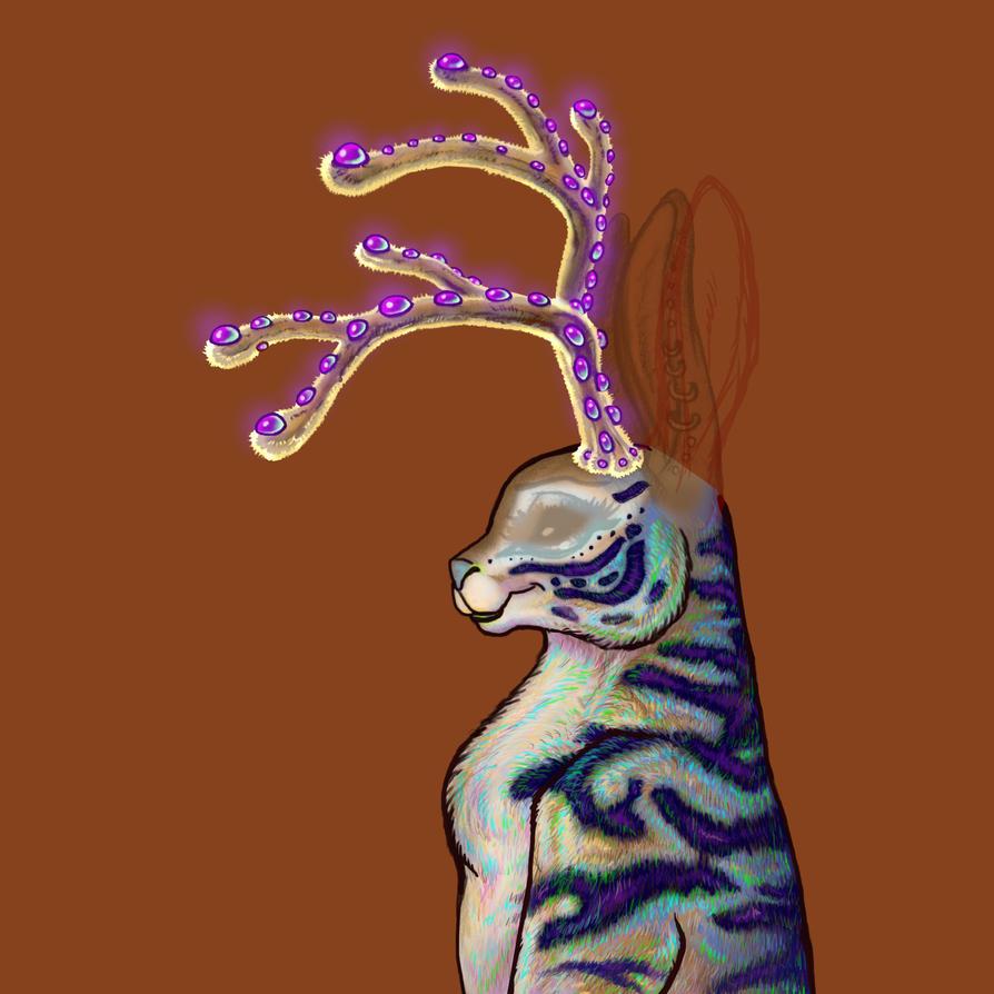 Antlers WIP Jackalope 011 A by BlackUniGryphon