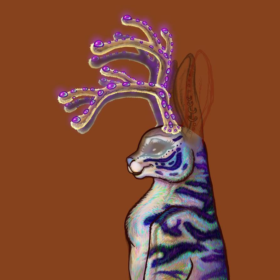 WIP Antlers Jackalope 012 copy by BlackUniGryphon