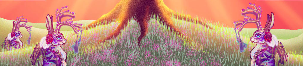Jackalope Panorama Lower Screen Animation Still by BlackUniGryphon