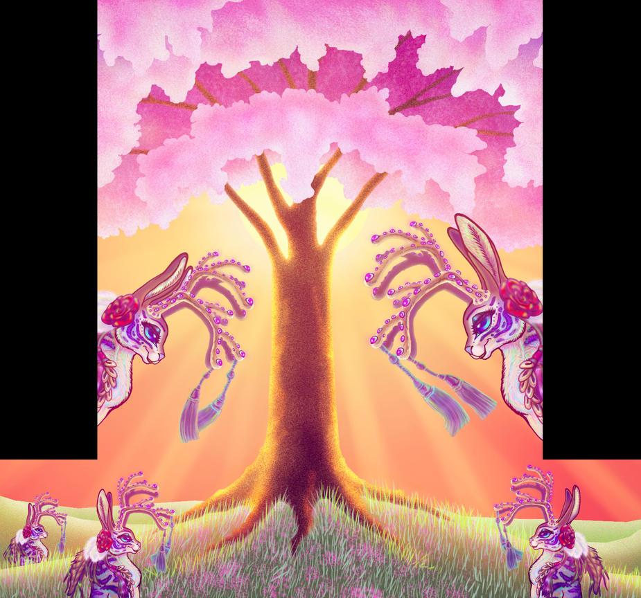 Sakura Jackalop Flat Template Animation Still by BlackUniGryphon