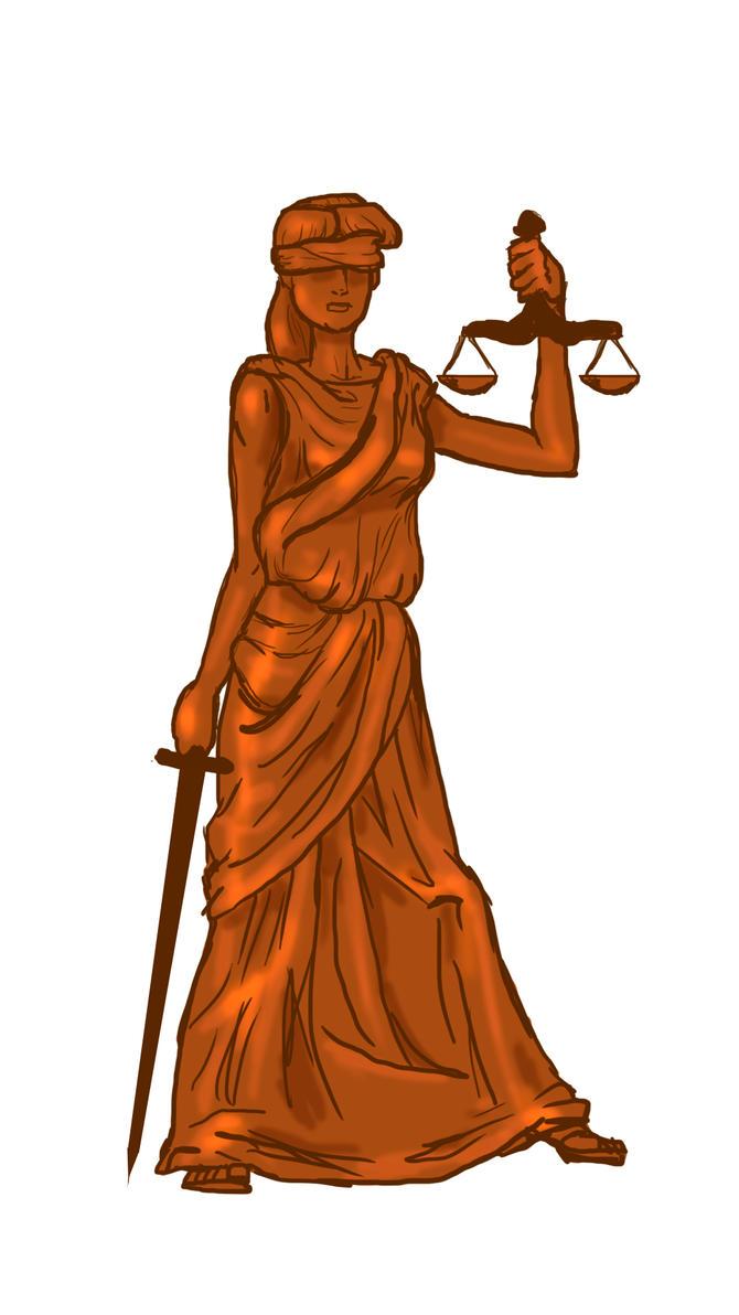 Justice Animation Still Frame Figure by BlackUniGryphon