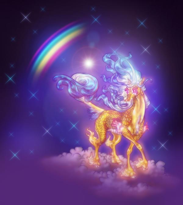 Dujiao Qilin Rainbow Cool Colors BG