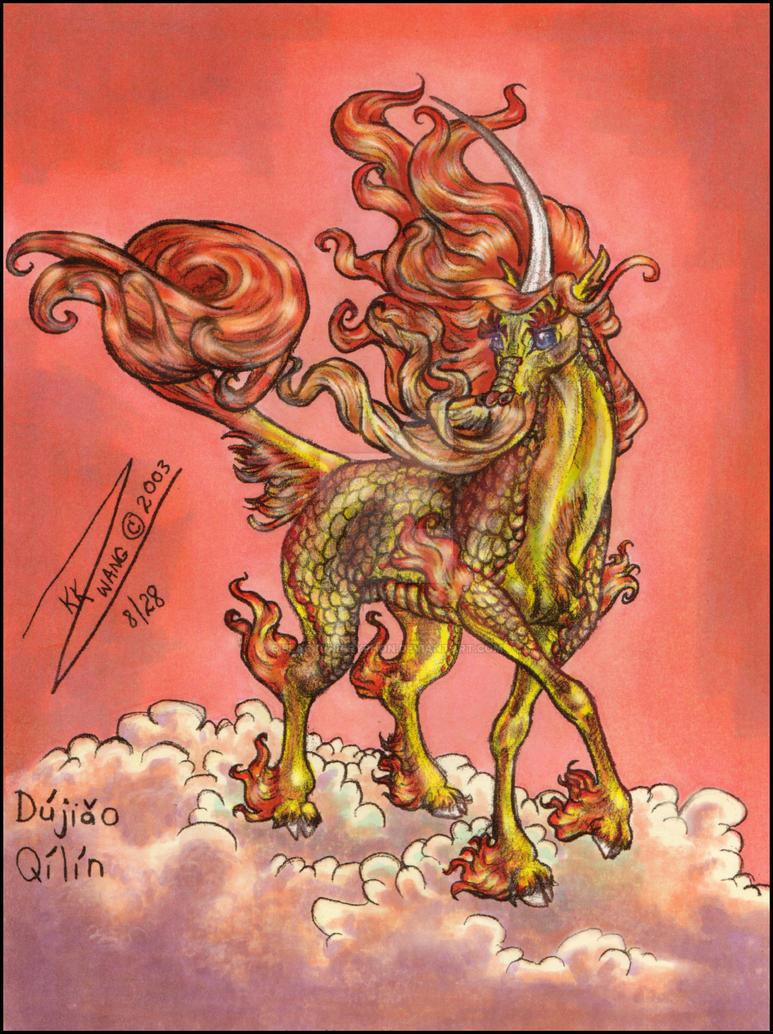 Dujiao Qilin Chinese Unicorn by BlackUniGryphon