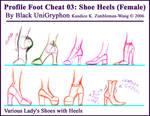 Foot Cheat 03 Profile Heels by BlackUniGryphon