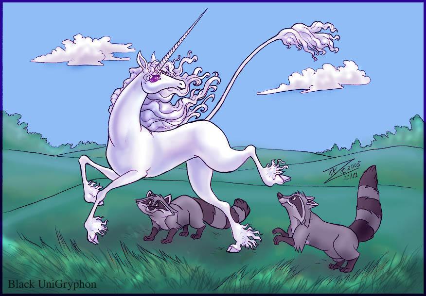 Color Last Unicorn n Meeko Com by BlackUniGryphon
