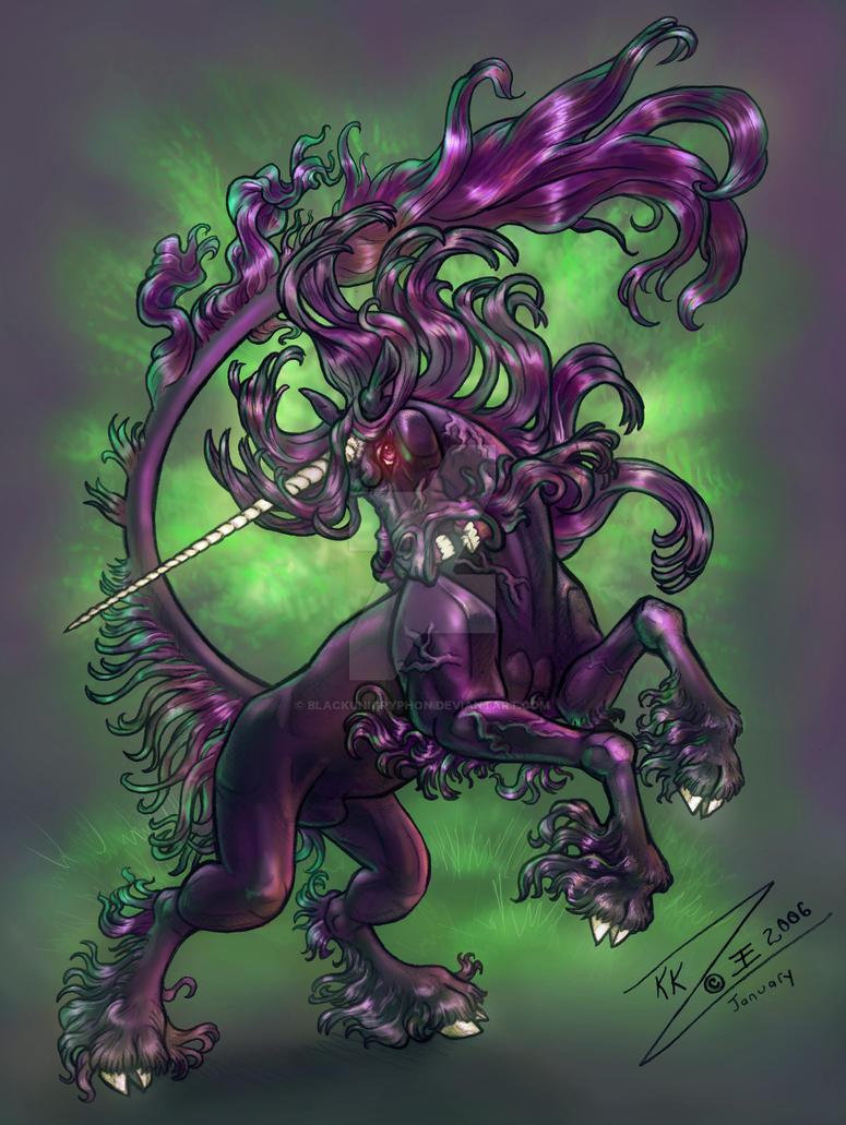 Vexed Black Unicorn by BlackUniGryphon