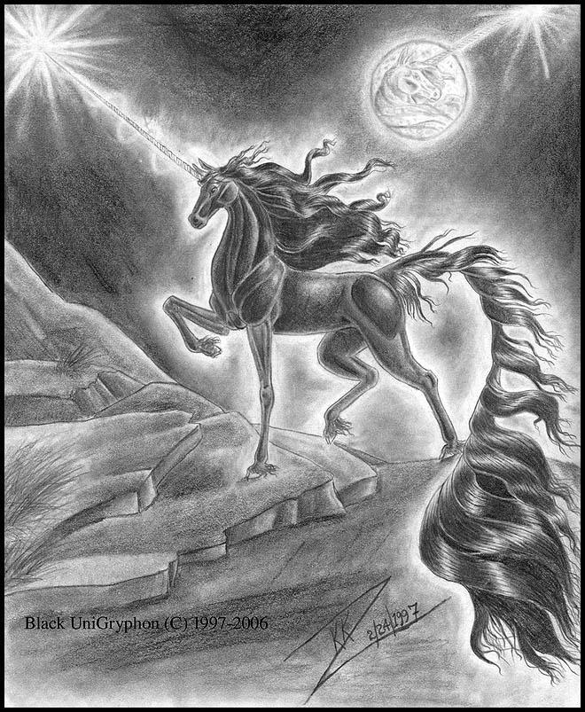 Original Black Unicorn 1997 by BlackUniGryphon