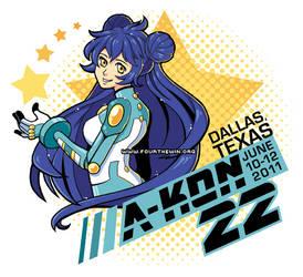 A-Kon 22 T-Shirt Design by missypena