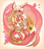 Angora the Rabbit Spirit by missypena