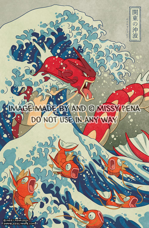 The Great Wave Off Kanto - Shiny Version by missypena