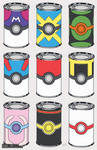 Pokeball Soup Cans
