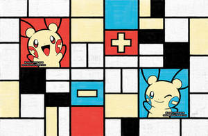 Composition with Plusle and Minun by missypena