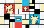 Composition with Plusle and Minun