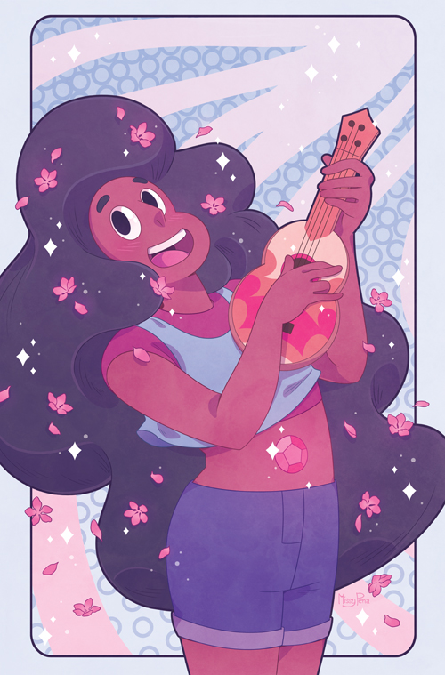 Here's a variation on the Fried Pie cover I did for BOOM! Studios Steven Universe issue #1! The one printed was just a bit different around the border. I love Stevonnie and thought they deserve the...