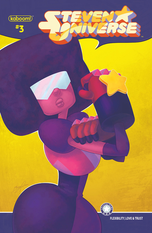 Here's the main cover for Steven Universe #3! Based on the famous motivational posterWe Can Do It! by J. Howard Miller. I decided to post this one with the logo, because it really isn't compl...