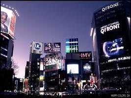 Shibuya at night by happy-colors