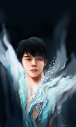 Requiem Portrait of Yuzuru Hanyu by Akoustam5