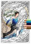 Yuzuru Hanyu Coloring Page by Akoustam5