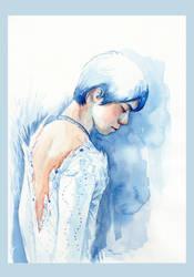 Yuzuru Hanyu Watercoloring--Notte Stellata by Akoustam5