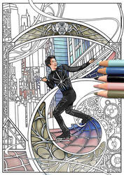 Boyang Jin Coloring Page by Akoustam5