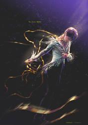 Yuzuru Hanyu Swan with Golden Ribbon by Akoustam5