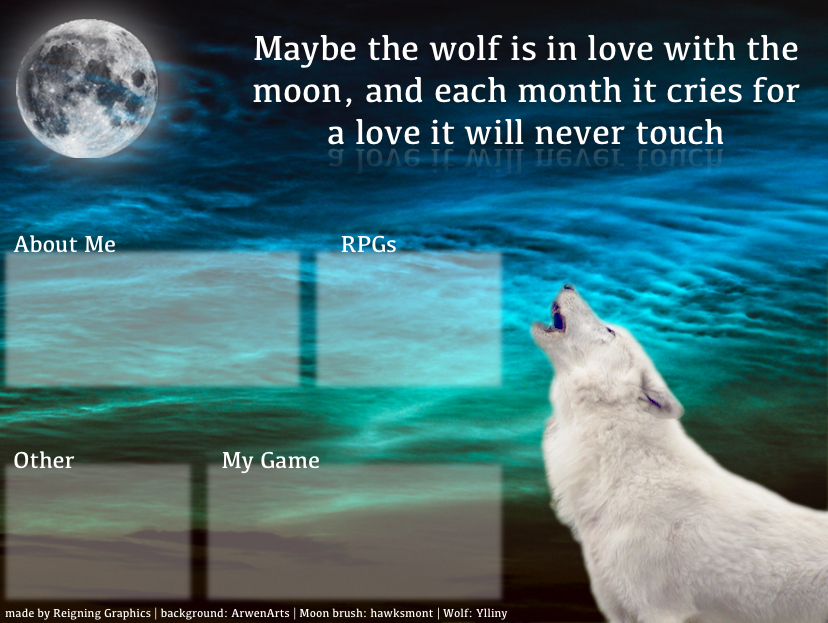 Layout with white wolf by Reigning-Graphics