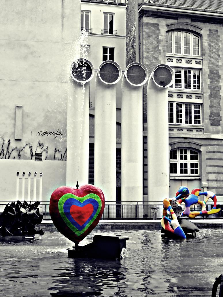 Fontaine Stravinski in Paris by DshaLie