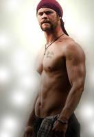 Chris Hemsworth 1 by AMANDABOMINATION