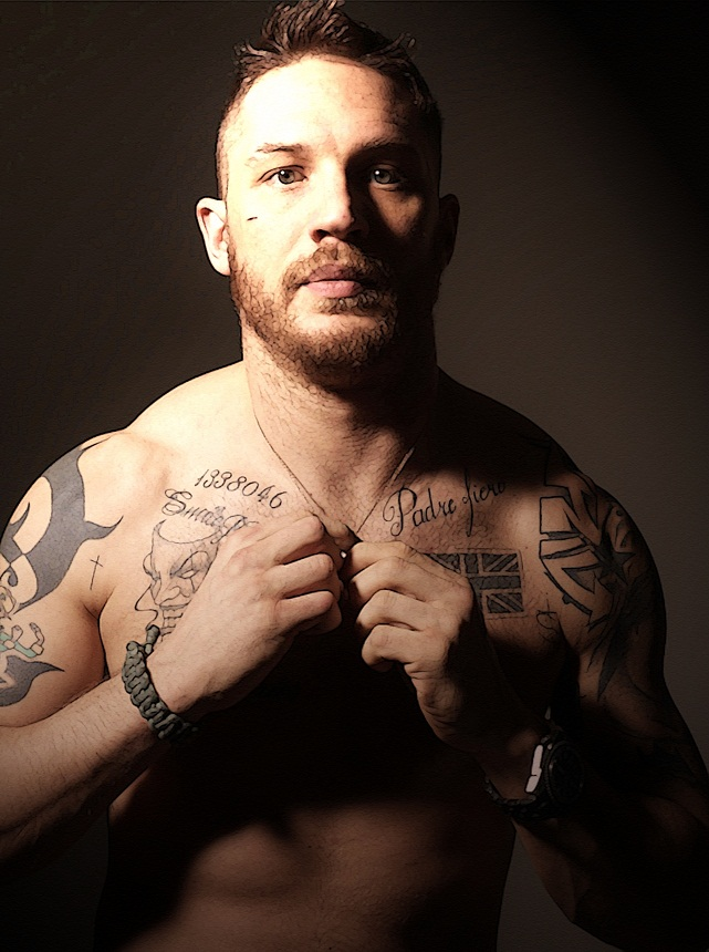 Tom Hardy - Tattoos by AMANDABOMINATION