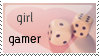 Girl Gamer Stamp by strawberry-hunter