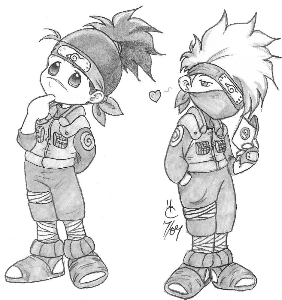 Precious Kakashi and Iruka by Lizmun