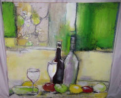 fruit and wine study by Stevenmcneil