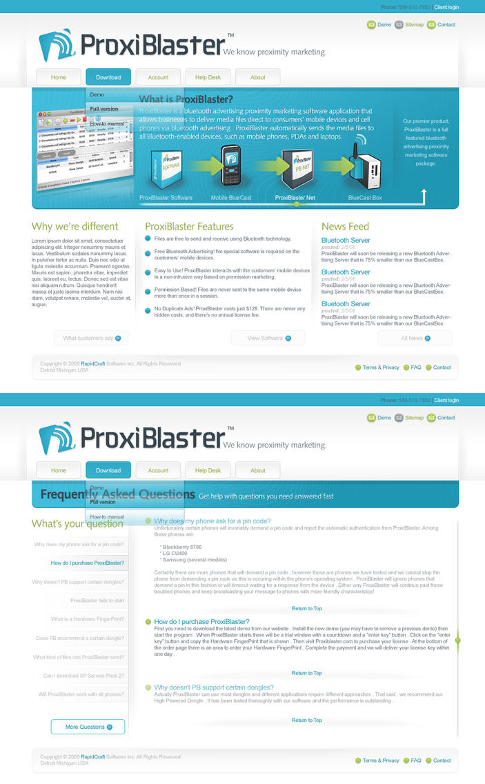 ProxiBlaster Interface by webgraphix