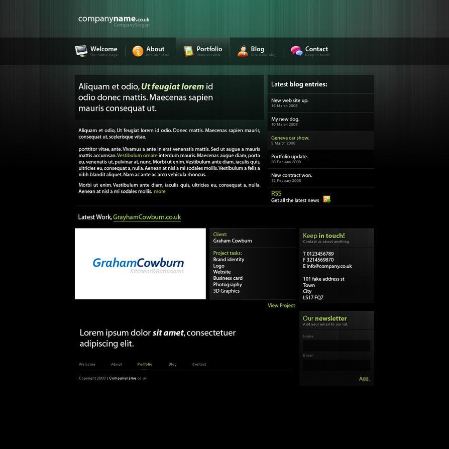 Portfolio, Blog Layout by webgraphix