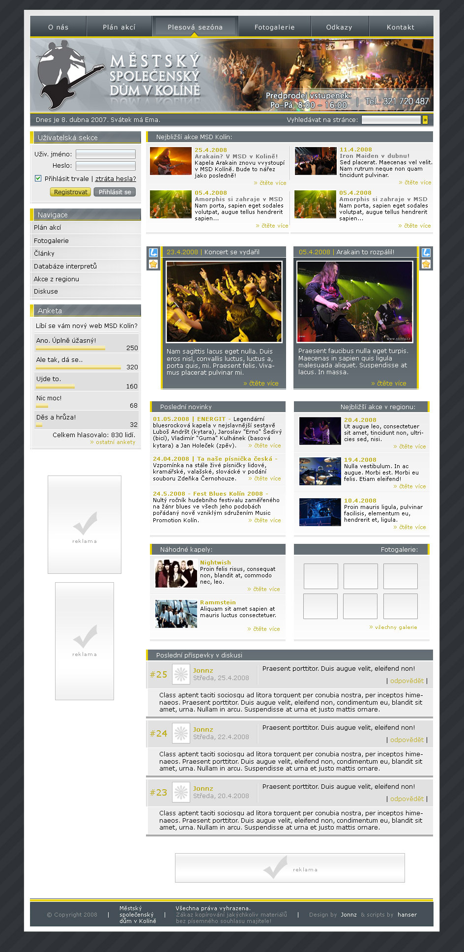Czech club  webdesign by jonnz by webgraphix