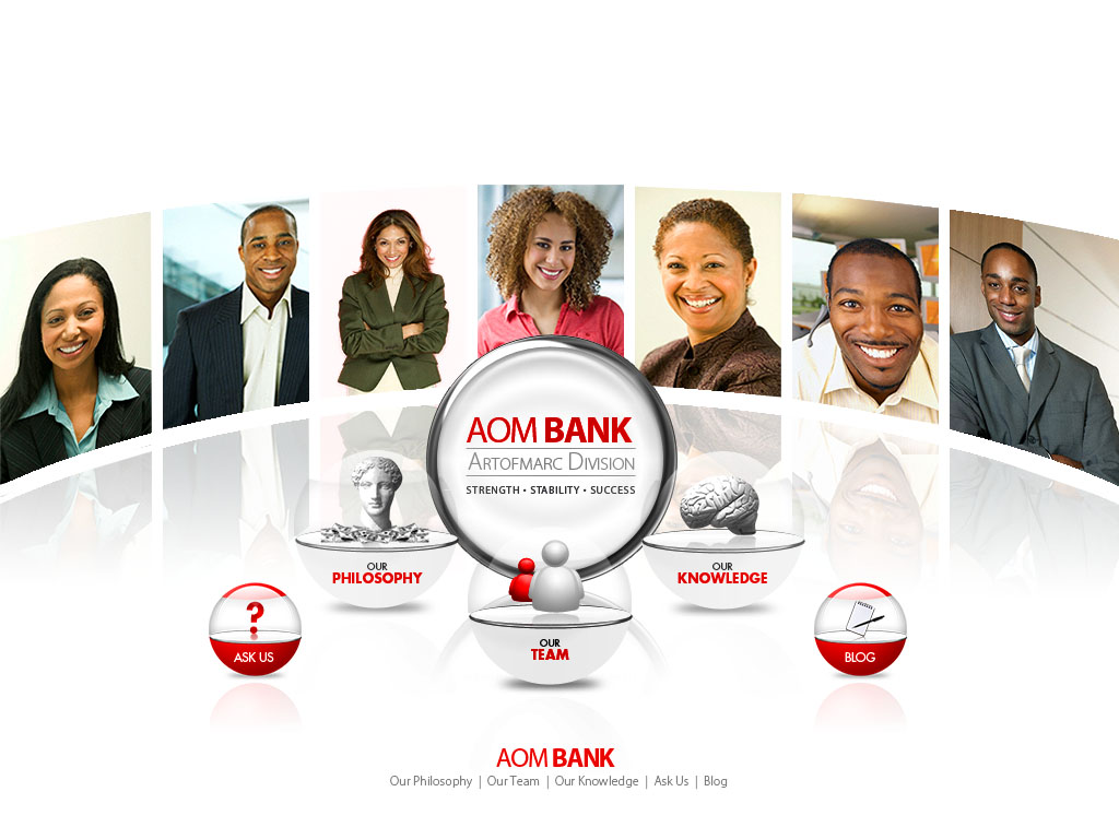 AOM Bank Microsite - artofmarc by webgraphix